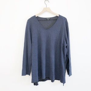 J. Jill Wearever Collection V-Neck Shirt 2X